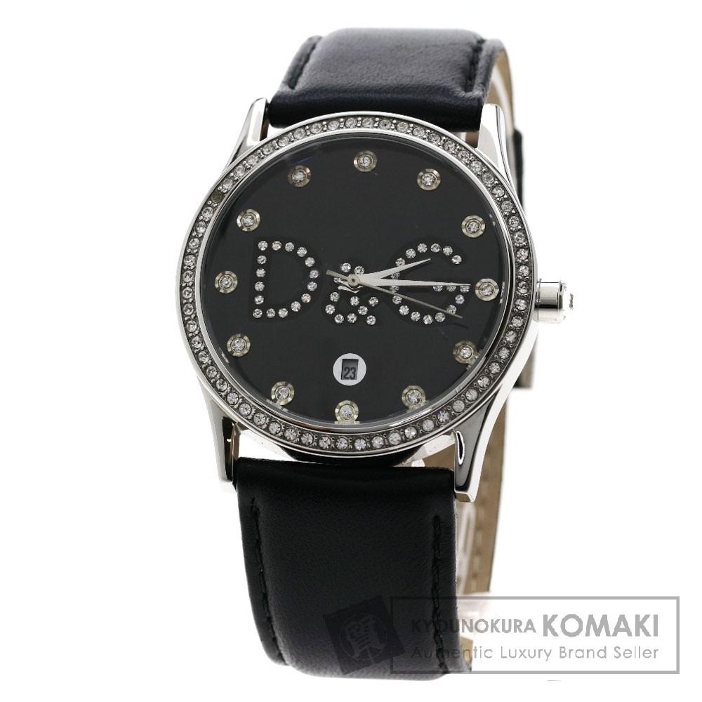 Dolce&Gabbana DW0008 グロリア 腕時計 ステンレススチール/革 メンズ 【中古】【ドルチェアンドガッバーナ】