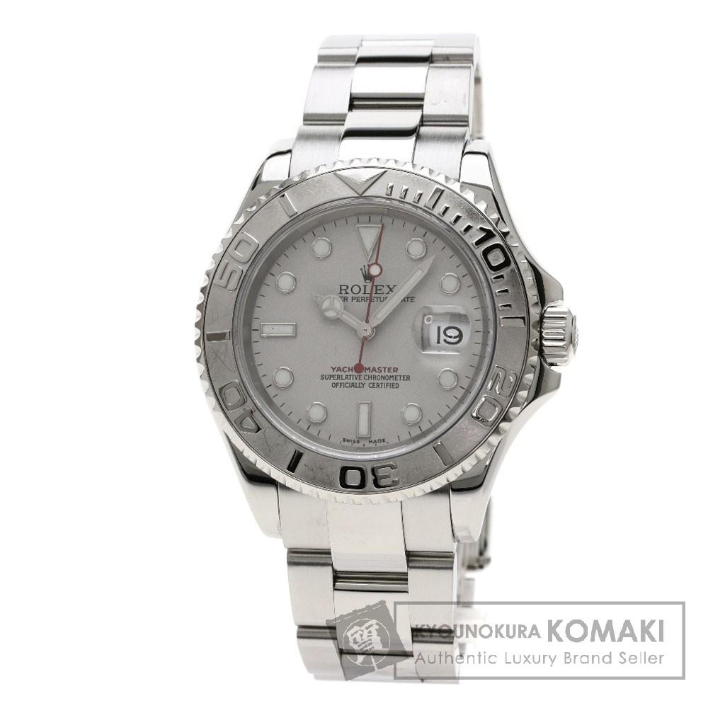 ROLEX 16622 ヨットマスター 腕時計 OH済 ステンレススチール/SS/プラチナ メンズ 【中古】【ロレックス】
