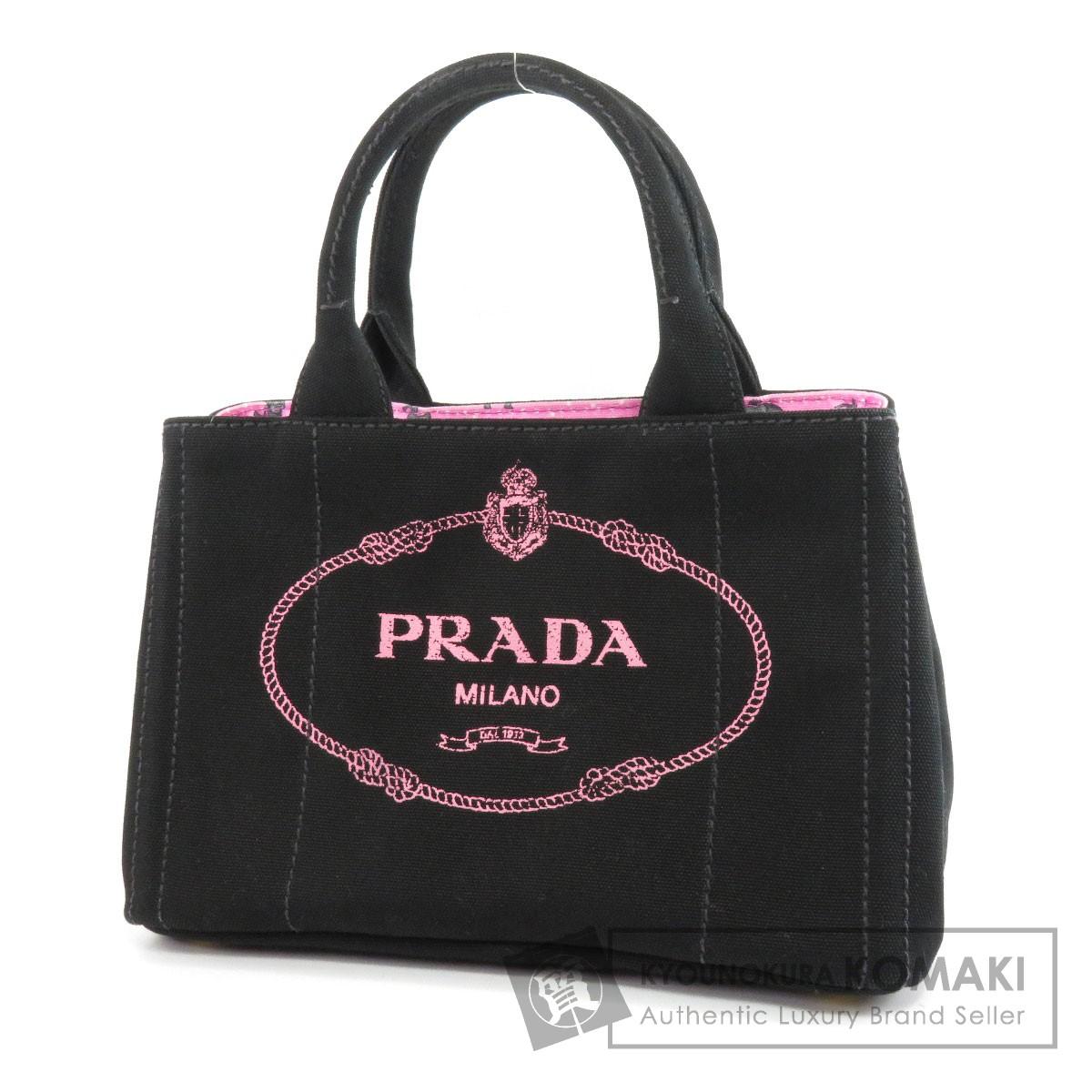 PRADA 1BG439 カナパ ミニ 2WAY トートバッグ キャンバス レディース 【中古】【プラダ】