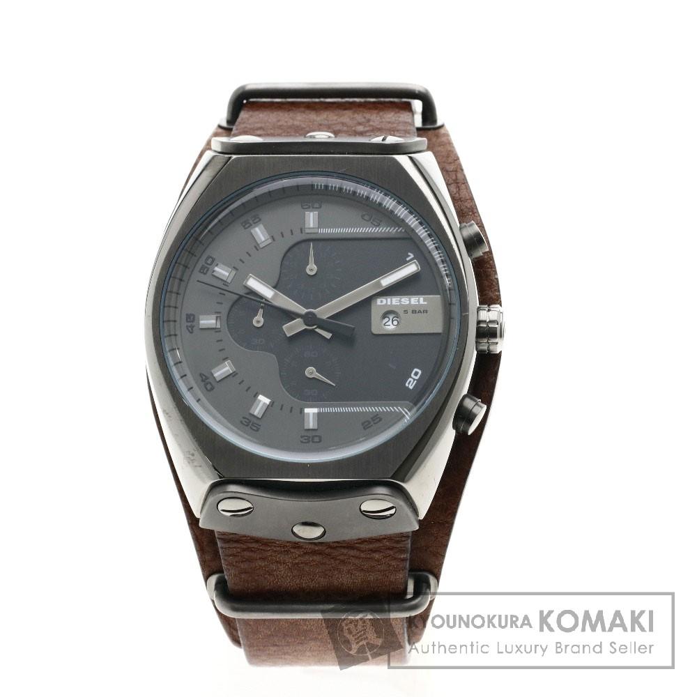 DIESEL DZ4293 腕時計 ステンレススチール/革 メンズ 【中古】【ディーゼル】