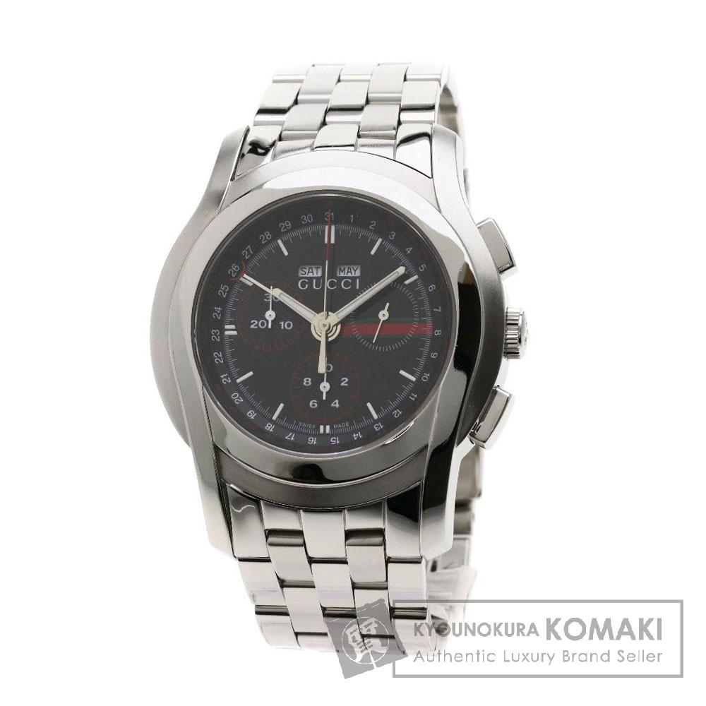 GUCCI 5500 トリプルカレンダー シェリーライン 腕時計 ステンレススチール/SS メンズ 【中古】【グッチ】