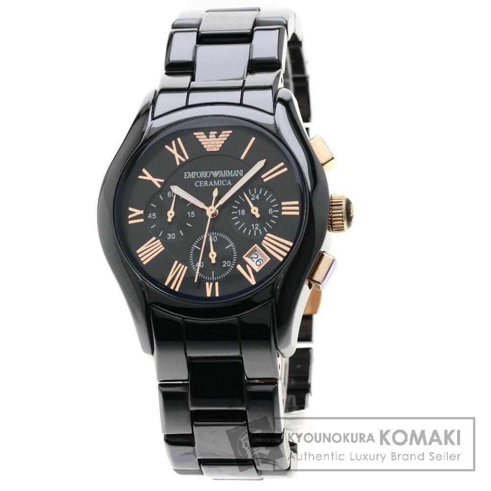 Emporio Armani AR-1410 セラミカ 腕時計 セラミック/セラミック メンズ 【中古】【エンポリオ・アルマーニ】