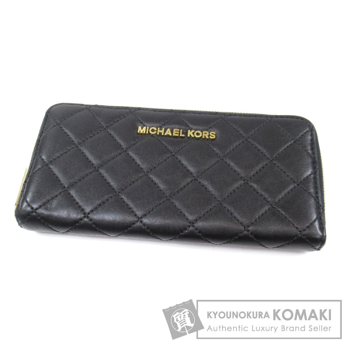 MICHAEL MICHAEL KORS ラウンドファスナー 長財布(小銭入れあり) レディース レディース 【中古】【マイケルマイケルコース】