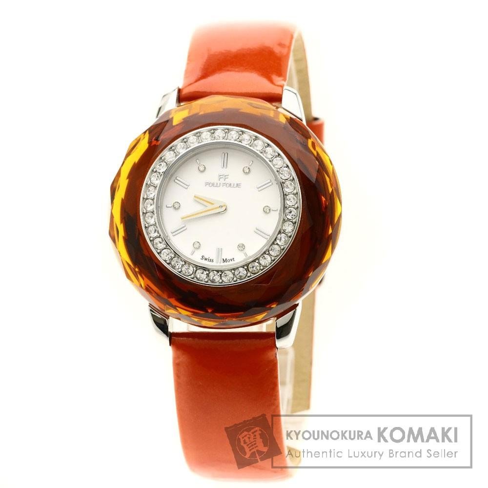 Folli Follie WF0A046SS 腕時計 ステンレススチール/革/プラスティック レディース 【中古】【フォリフォリ】