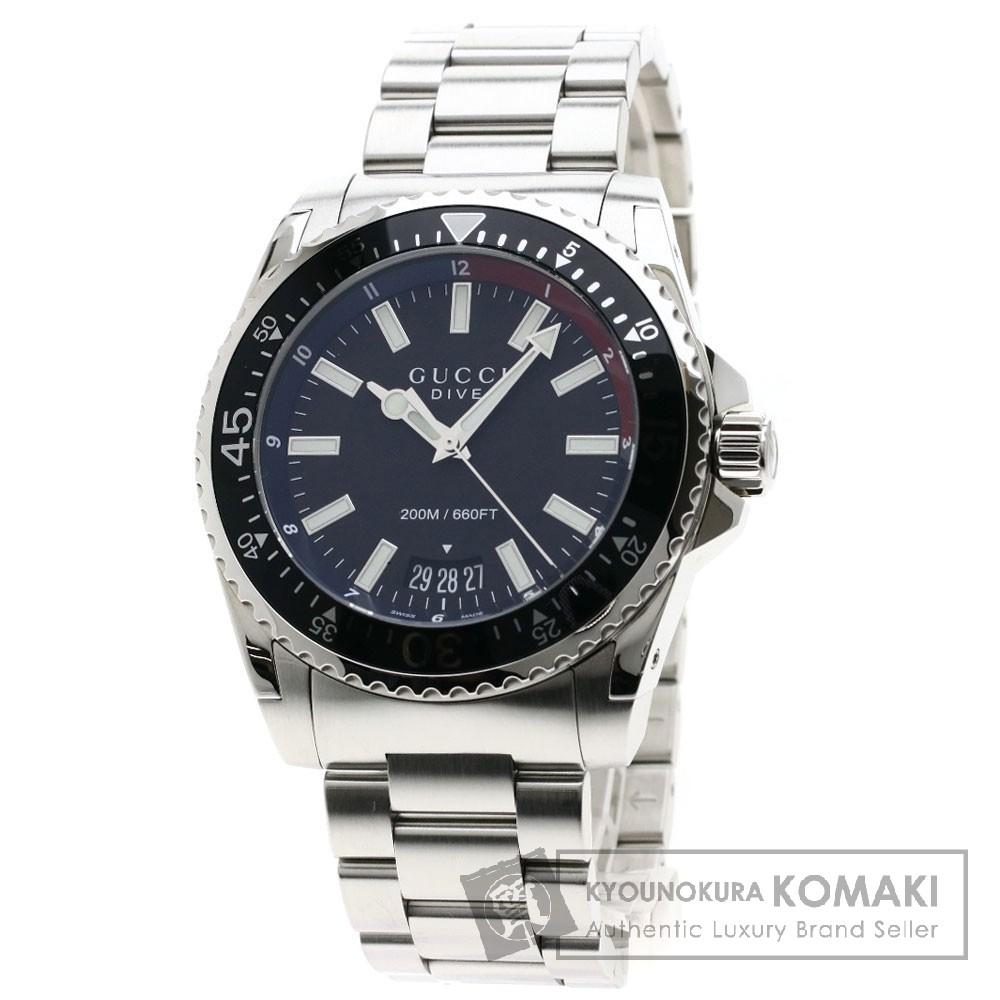 GUCCI YA136212 ダイヴ 腕時計 ステンレススチール メンズ 【中古】【グッチ】