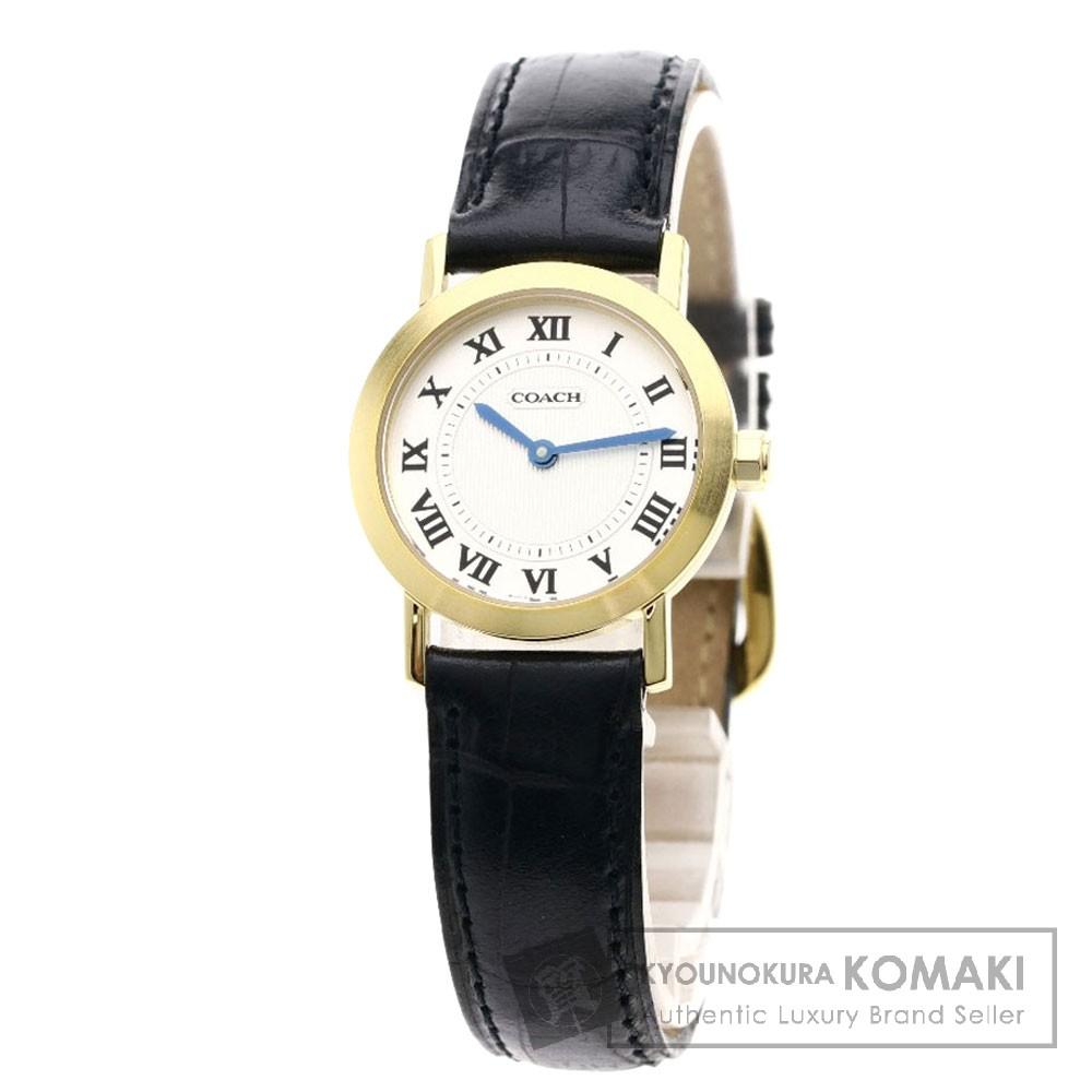 COACH W135 腕時計 GP/レザー レディース 【中古】【コーチ】