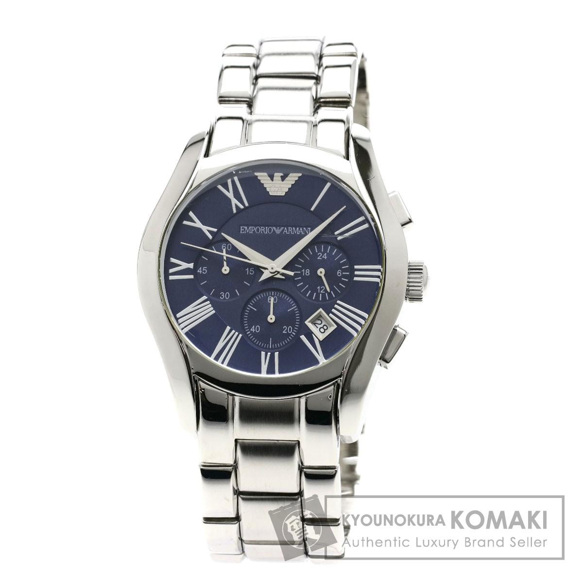 Emporio Armani AR-1635 クラシック 腕時計 ステンレススチール メンズ 【中古】【エンポリオ・アルマーニ】