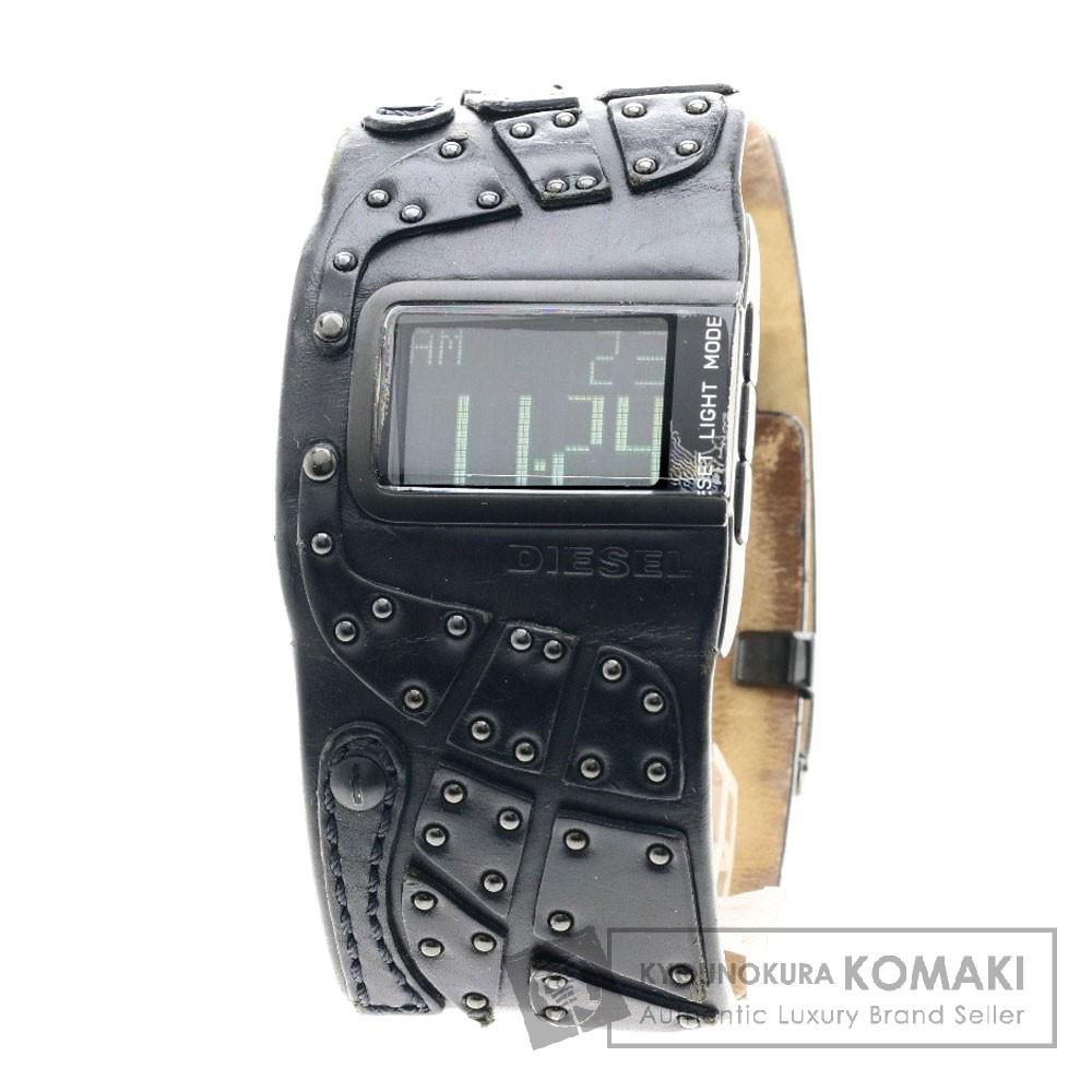 DIESEL DZ7066 腕時計 ステンレススチール/レザー メンズ 【中古】【ディーゼル】