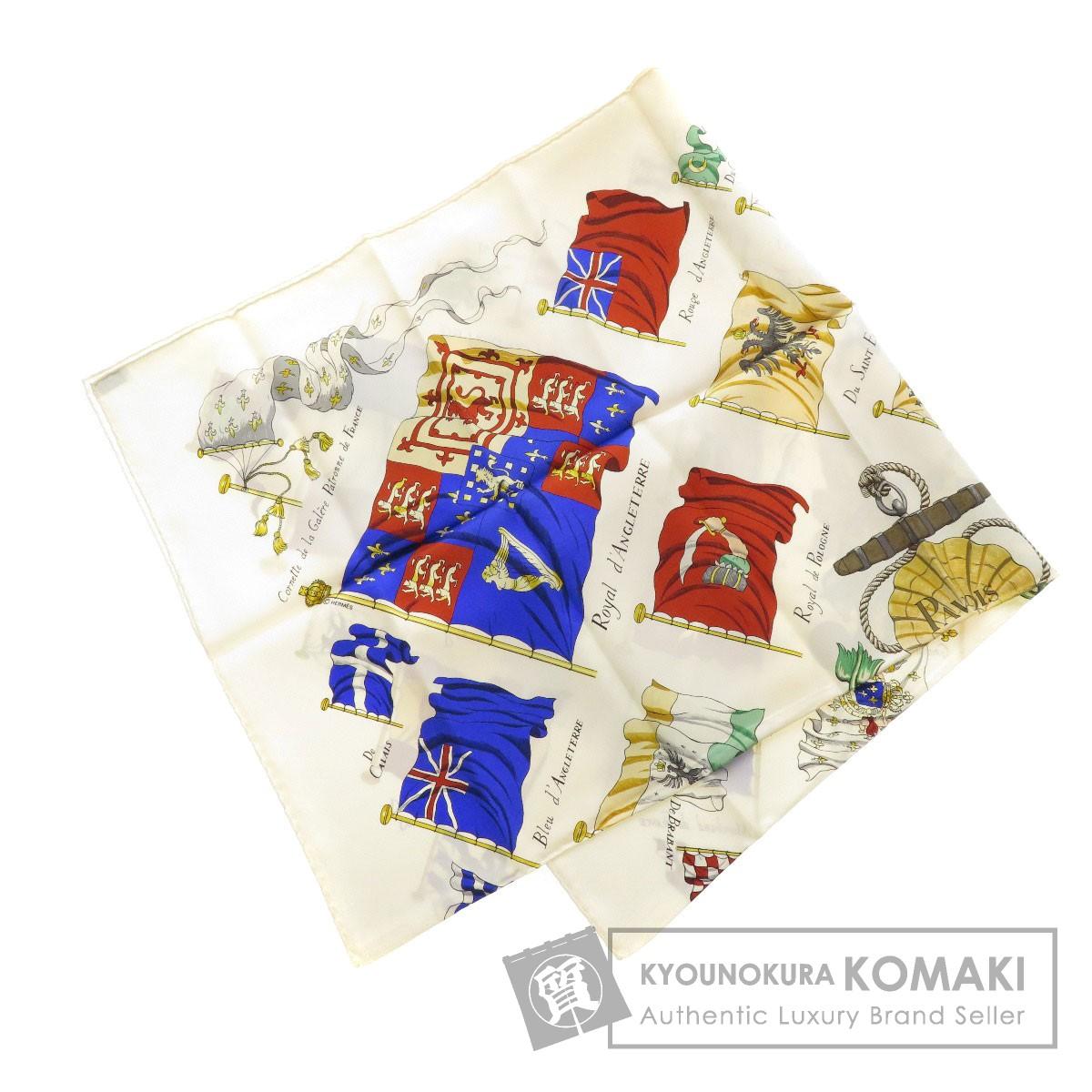 HERMES カレ90 Pavois 船旗 スカーフ シルク レディース 【中古】【エルメス】