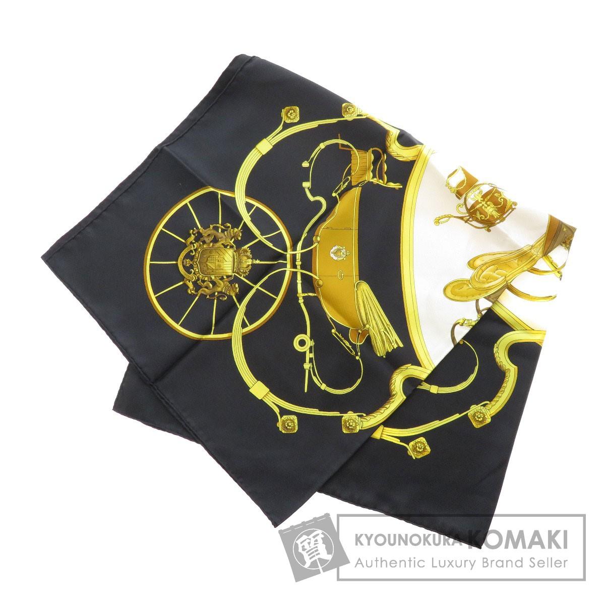 HERMES カレ90 Springs 馬車柄 スカーフ シルク レディース 【中古】【エルメス】