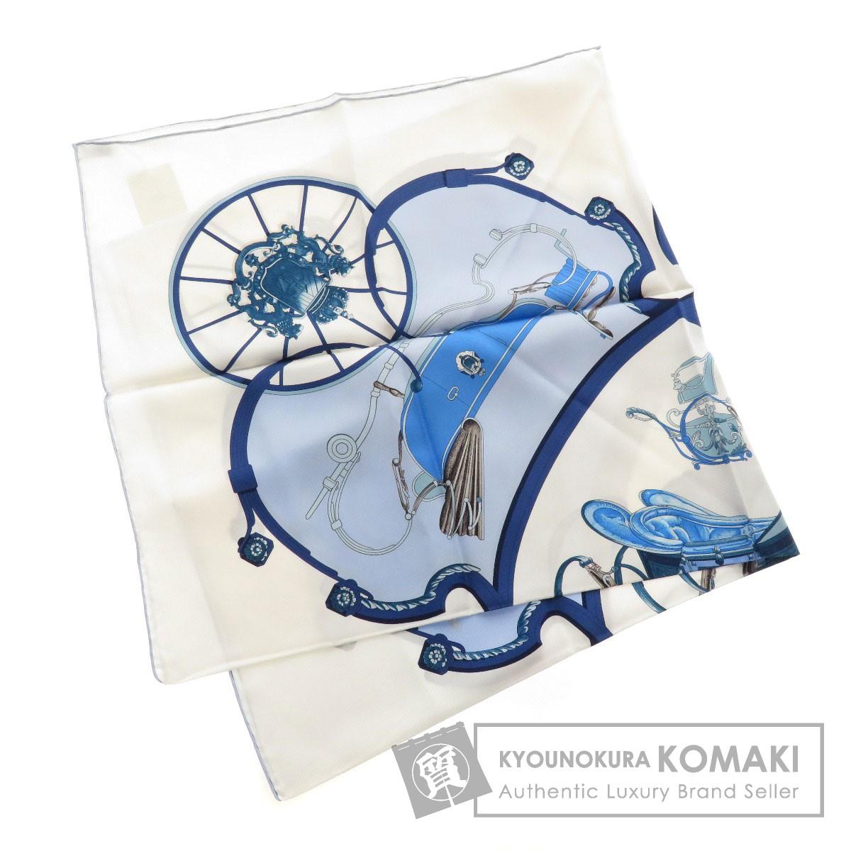 HERMES カレ90 Springs 馬車 スカーフ シルク レディース 【中古】【エルメス】