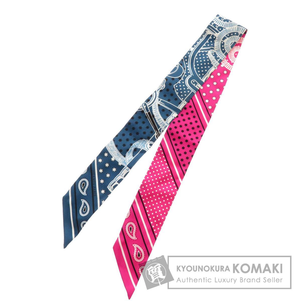 HERMES ツイリードット×スターデザイン スカーフ シルク レディース 【中古】【エルメス】