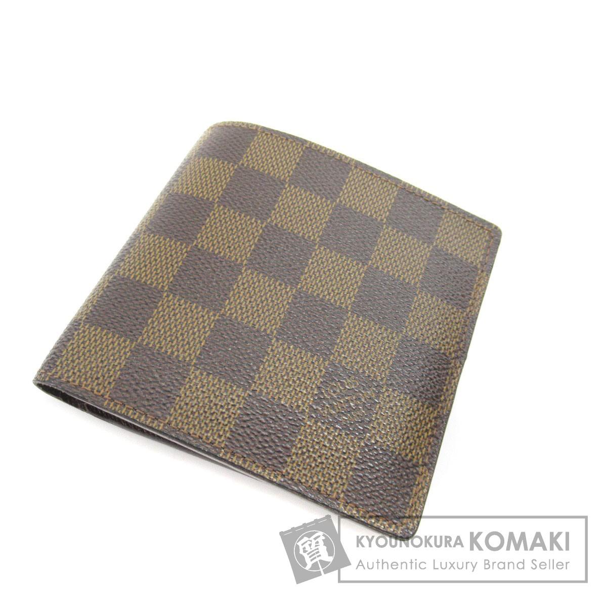 LOUIS VUITTON N61675 ポルトフォイユ・マルコ 二つ折り財布(小銭入れあり) ダミエキャンバス メンズ 【中古】【ルイ・ヴィトン】