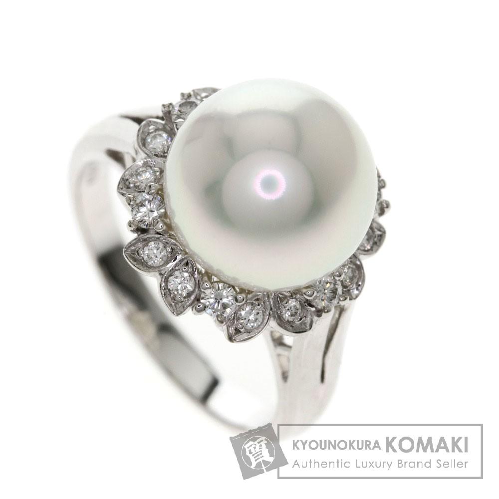 MIKIMOTO パール/真珠/ダイヤモンド リング・指輪 プラチナPT950 レディース 【中古】【ミキモト】