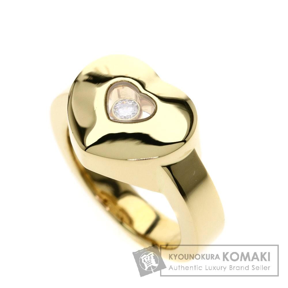 Chopard ハッピーダイヤリング/ハート リング・指輪 K18イエローゴールド レディース 【中古】【ショパール】