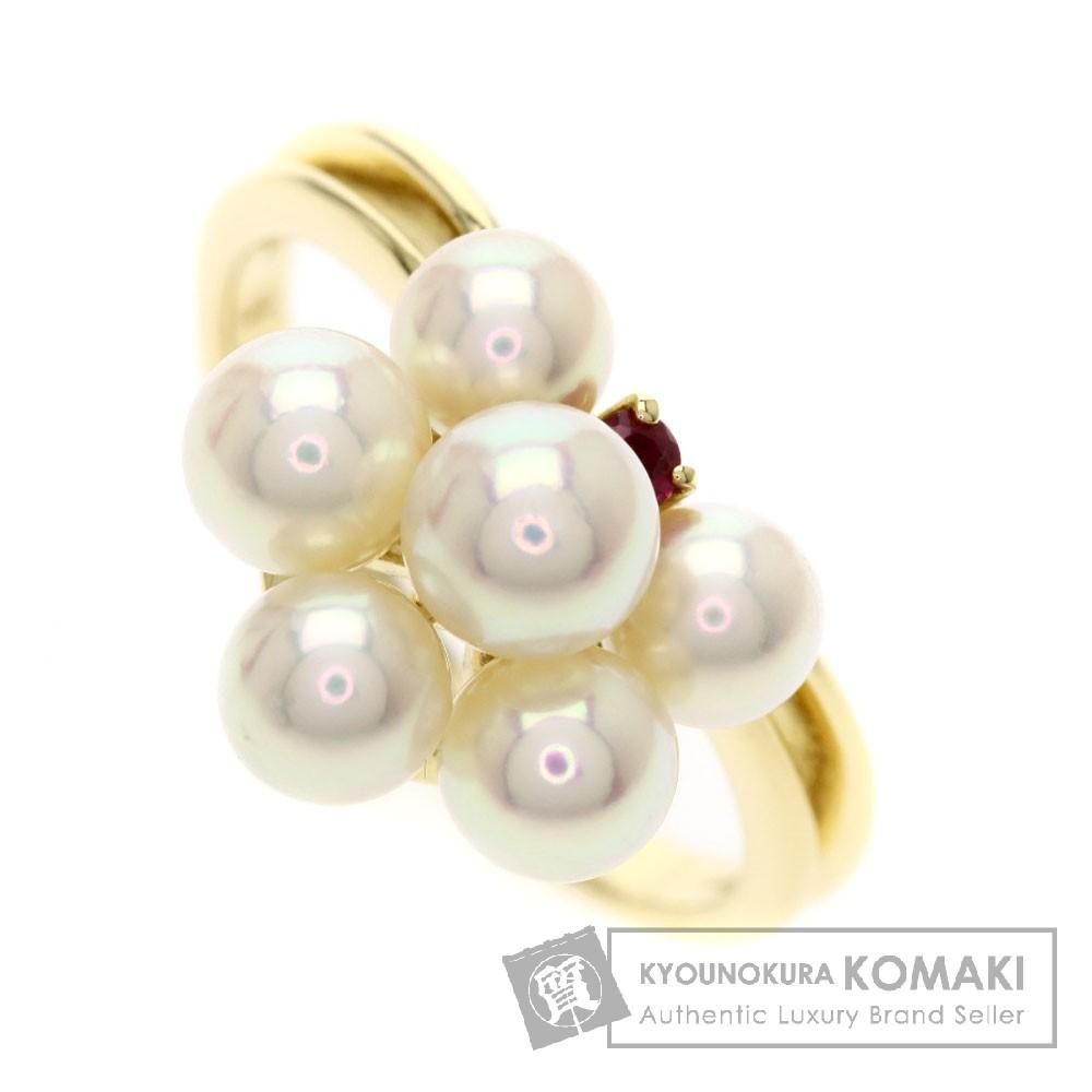 MIKIMOTO パール/真珠/ルビー リング・指輪 K18イエローゴールド レディース 【中古】【ミキモト】