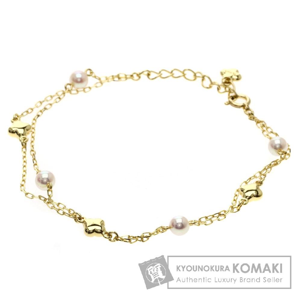 MIKIMOTO パール/真珠/フラワー ブレスレット K18イエローゴールド レディース 【中古】【ミキモト】