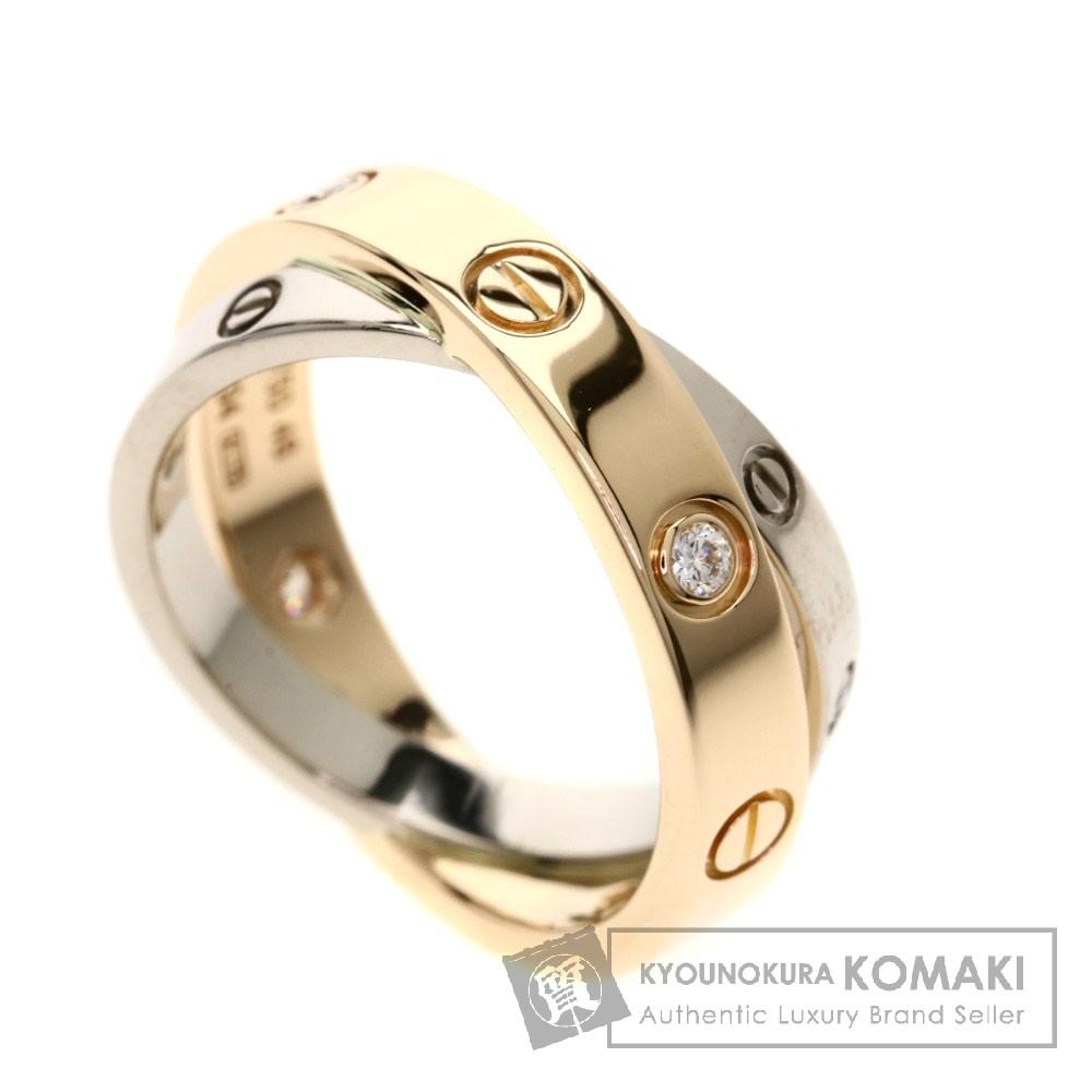 CARTIER ビーラブリング 6Pダイヤモンド リング・指輪 K18ピンクゴールド/K18WG レディース 【中古】【カルティエ】