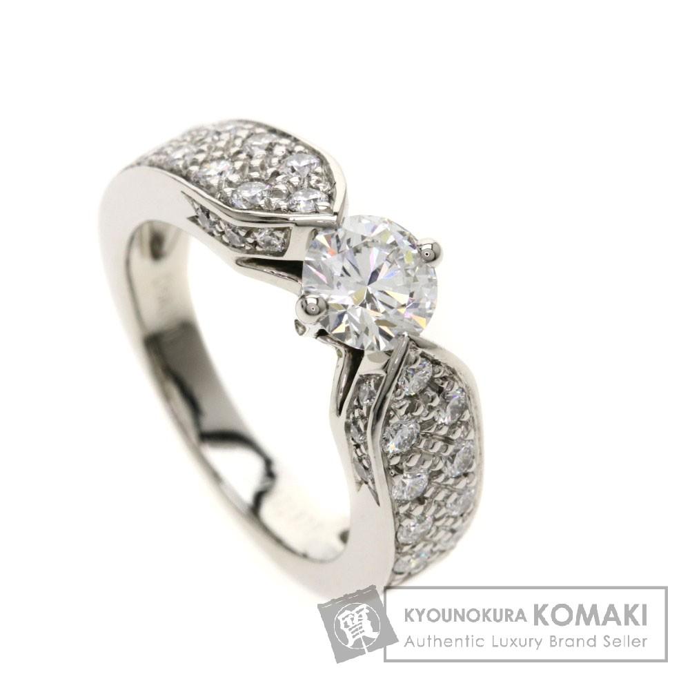 Chaumet プリュム ダイヤモンド リング・指輪 プラチナPT950 レディース 【中古】【ショーメ】