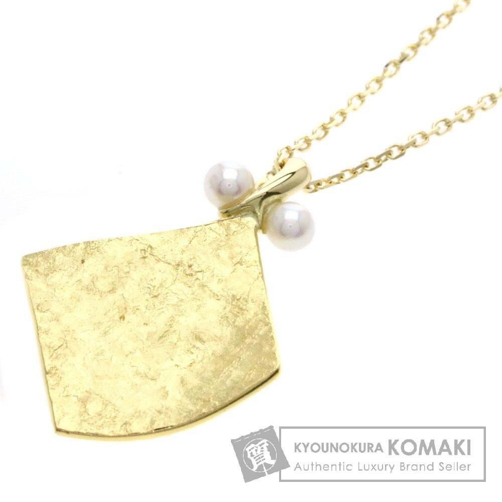 MIKIMOTO パール/真珠 ネックレス K18イエローゴールド/K22YG レディース 【中古】【ミキモト】