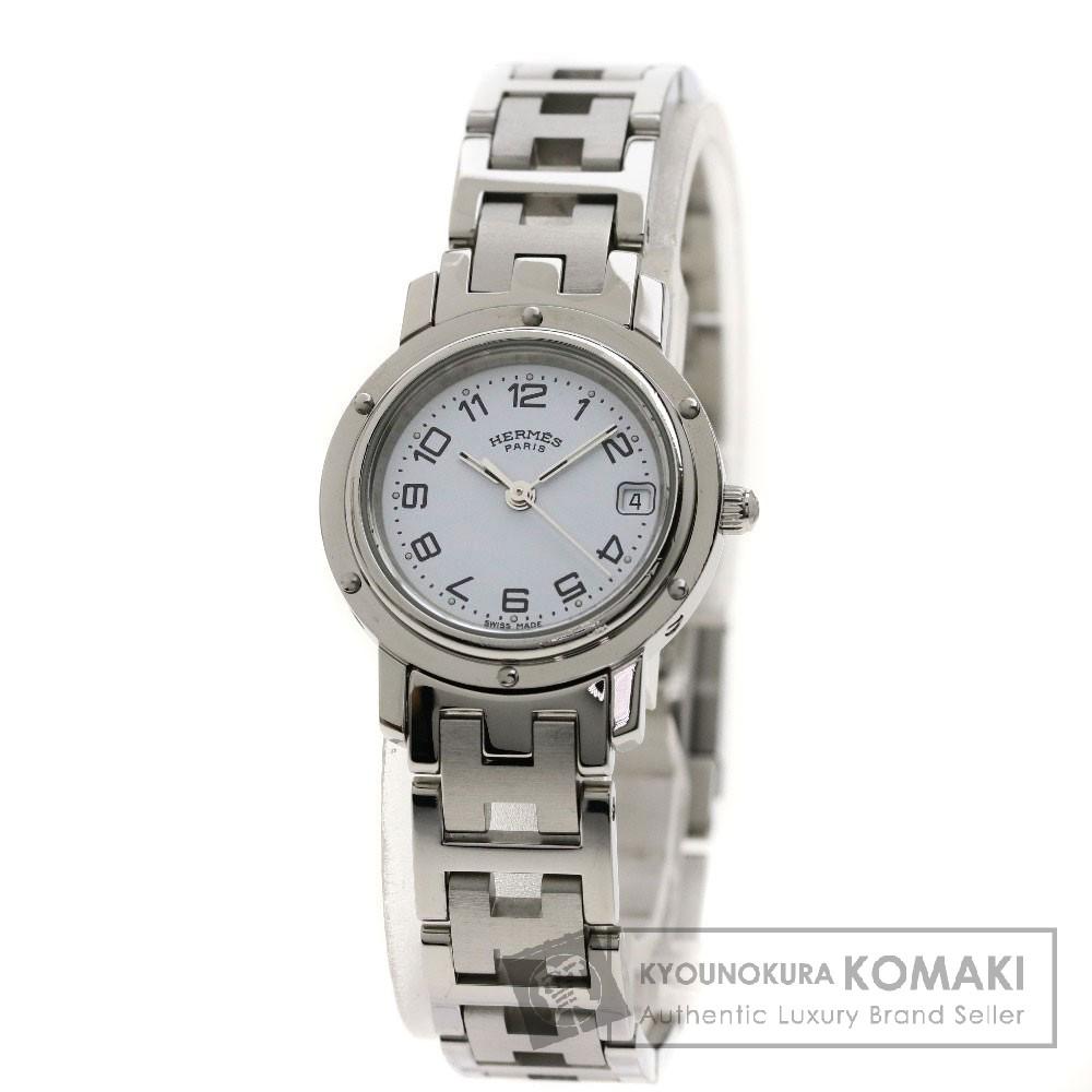 HERMES CL4.210 クリッパー 腕時計 OH済 ステンレススチール/SS レディース 【中古】【エルメス】