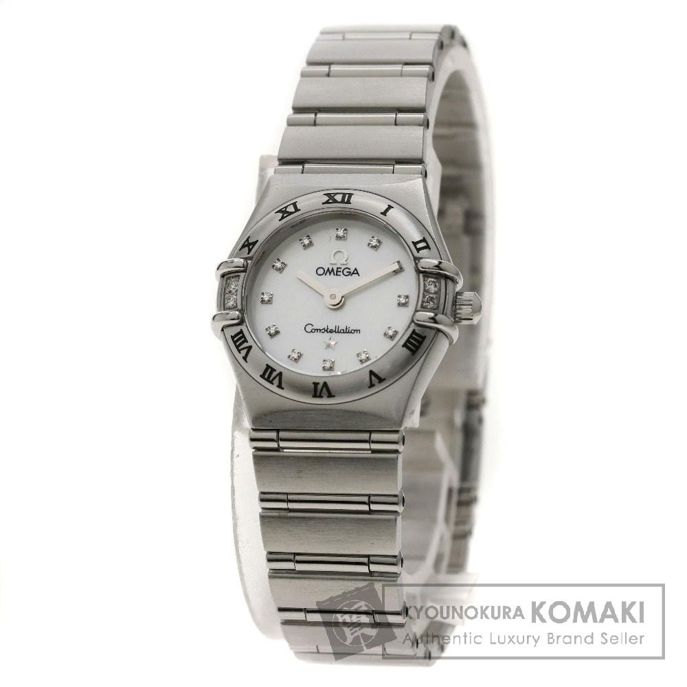 OMEGA 1566-76 コンステレーション 12Pダイヤモンド/ベゼル4Pダイヤモンド 腕時計 ステンレススチール/SS レディース 【中古】【オメガ】
