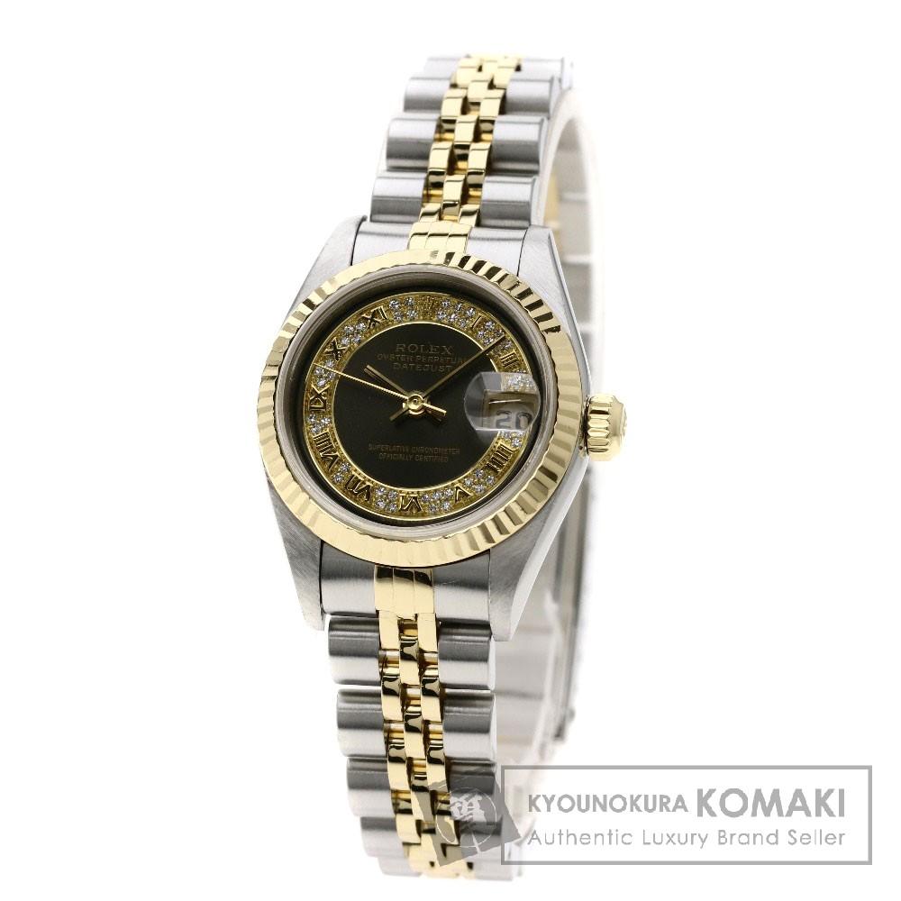 ROLEX 79173MR デイトジャスト ミリヤード ダイヤモンド 腕時計 OH済 ステンレススチール/SSxK18YG レディース 【中古】【ロレックス】