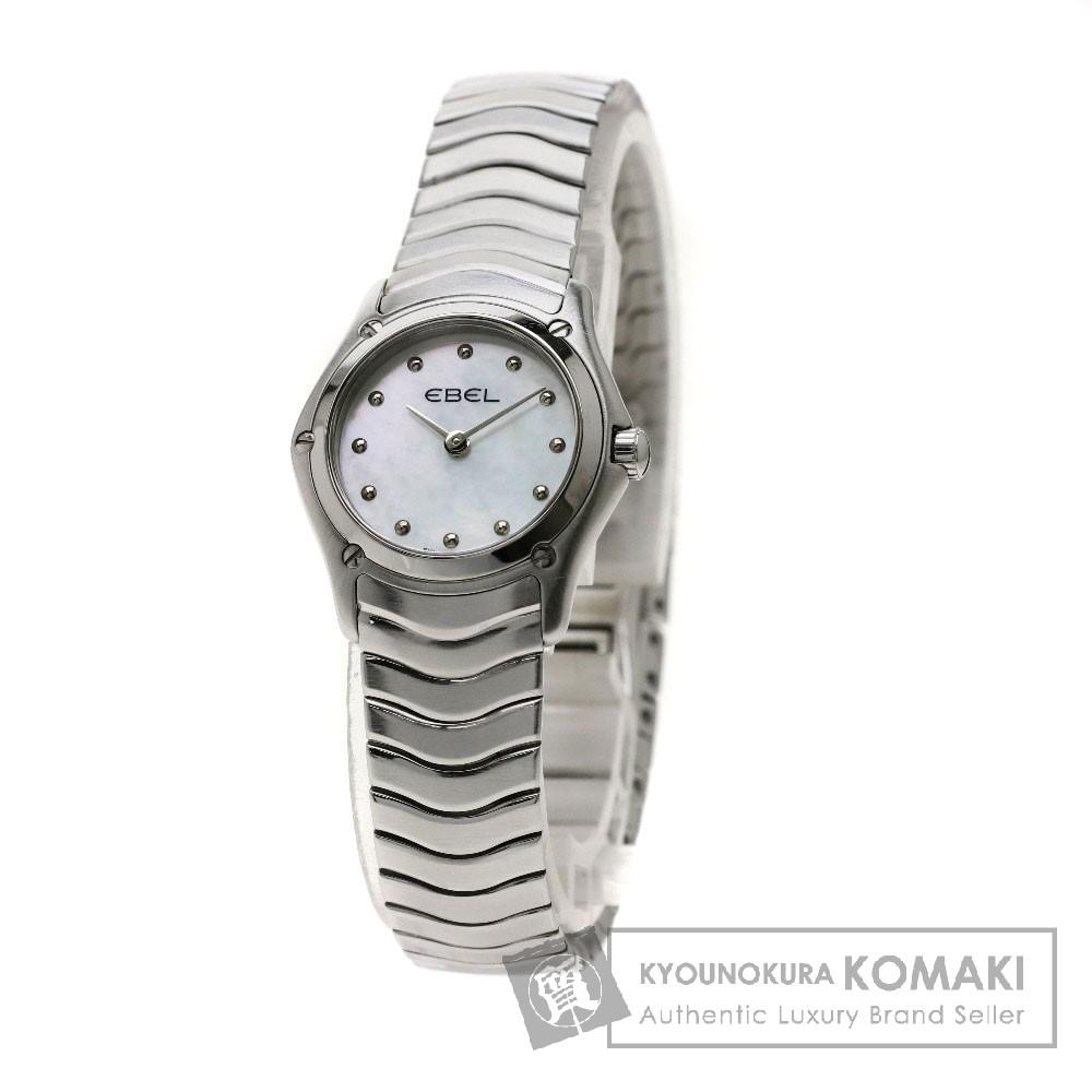 EBEL 9003F11.1 クラシック ウェーブ 腕時計 ステンレススチール/SS レディース 【中古】【エベル】