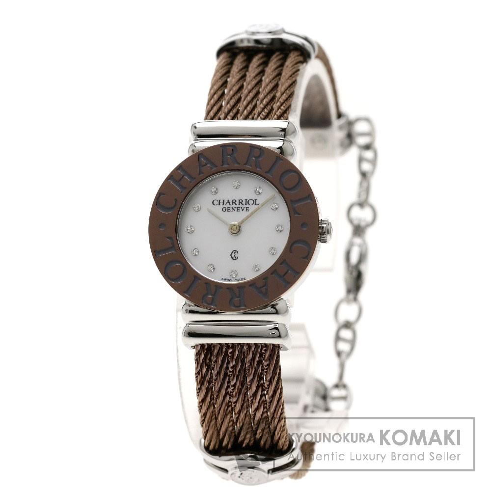 CHARRIOL 028AB.543.326 サントロペ ブロンズ 腕時計 ステンレススチール/SS レディース 【中古】【シャリオール】