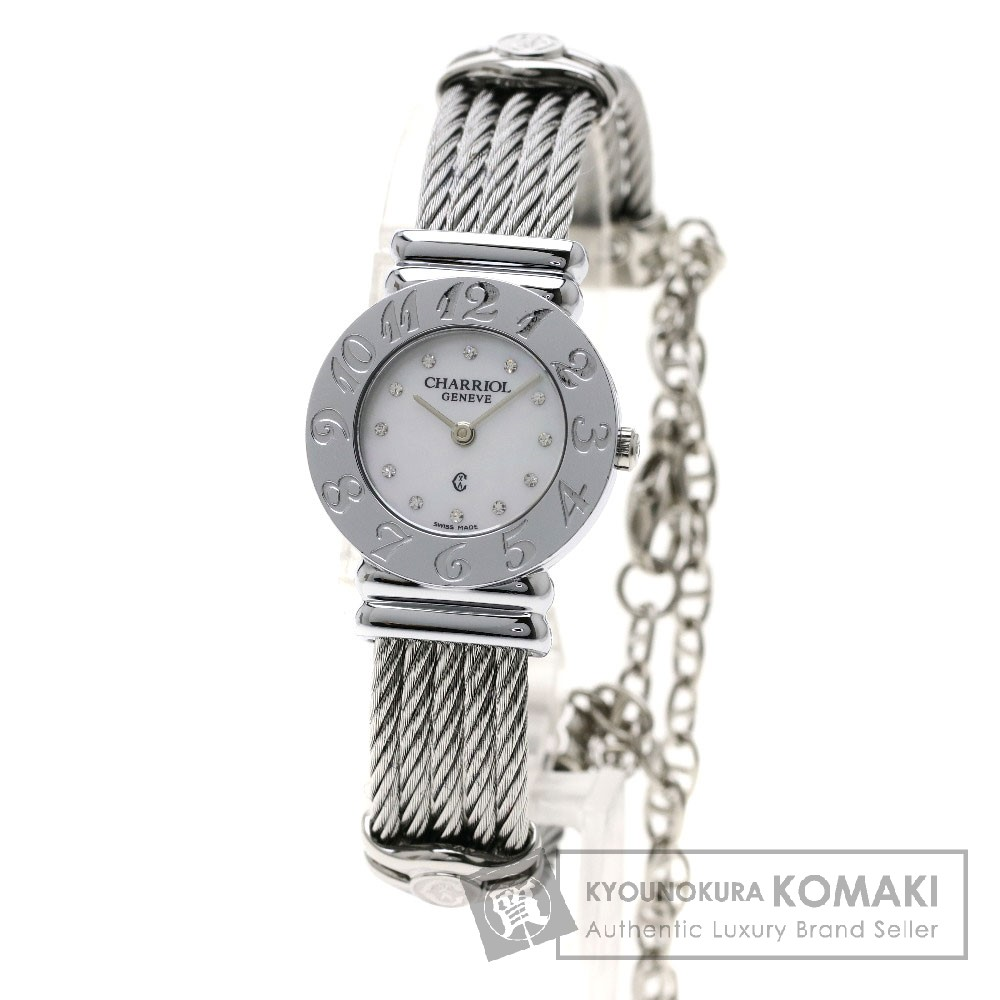 CHARRIOL Ref.028A サントロペ 腕時計 ステンレススチール/SS レディース 【中古】【シャリオール】