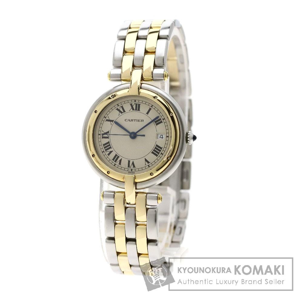 CARTIER パンテール ラウンド MM 2ROW 腕時計 ステンレススチール/SSxK18YG レディース 【中古】【カルティエ】