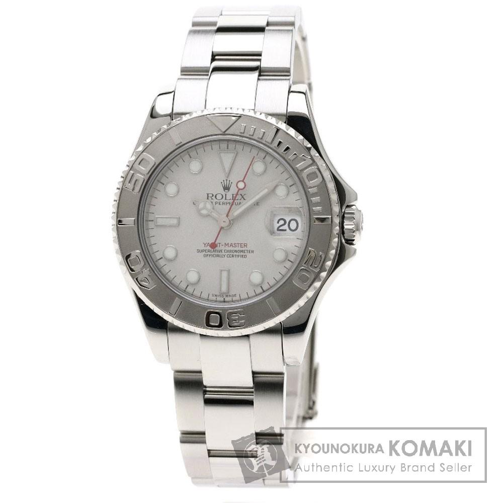 ROLEX 168622 ヨットマスター ロレジウム 腕時計 OH済 ステンレススチール/SS/プラチナ ボーイズ 【中古】【ロレックス】