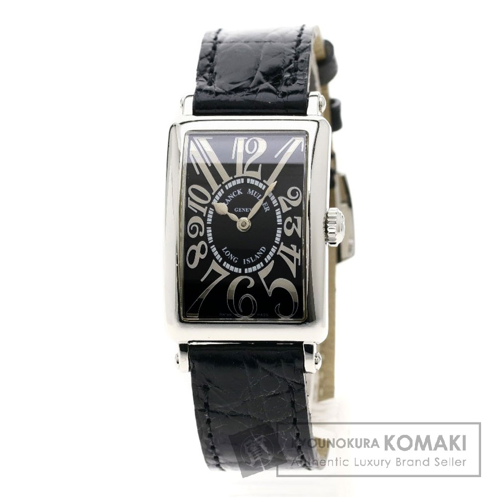 FRANCK MULLER 902QZ REL ロングアイランド/レリーフ 腕時計 ステンレススチール/レザー レディース 【中古】【フランクミュラー】