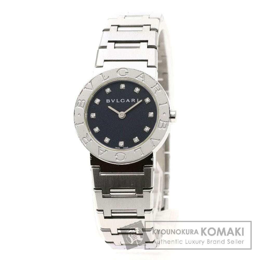 BVLGARI BB26SS/12 ブルガリブルガリ/12Pダイヤモンド 腕時計 ステンレススチール レディース 【中古】【ブルガリ】