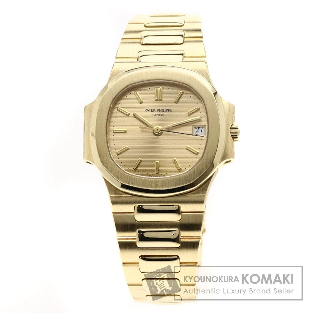 PATEK PHILIPPE 3800/1J ノーチラス 腕時計 OH済 K18イエローゴールド メンズ 【中古】【パテックフィリップ】