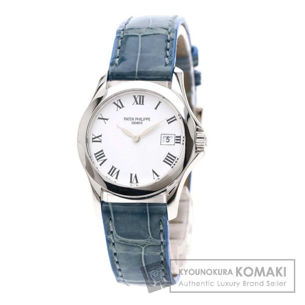 PATEK PHILIPPE 4906G カラトラバ 腕時計 K18ホワイトゴールド/レザー レディース 【中古】【パテックフィリップ】