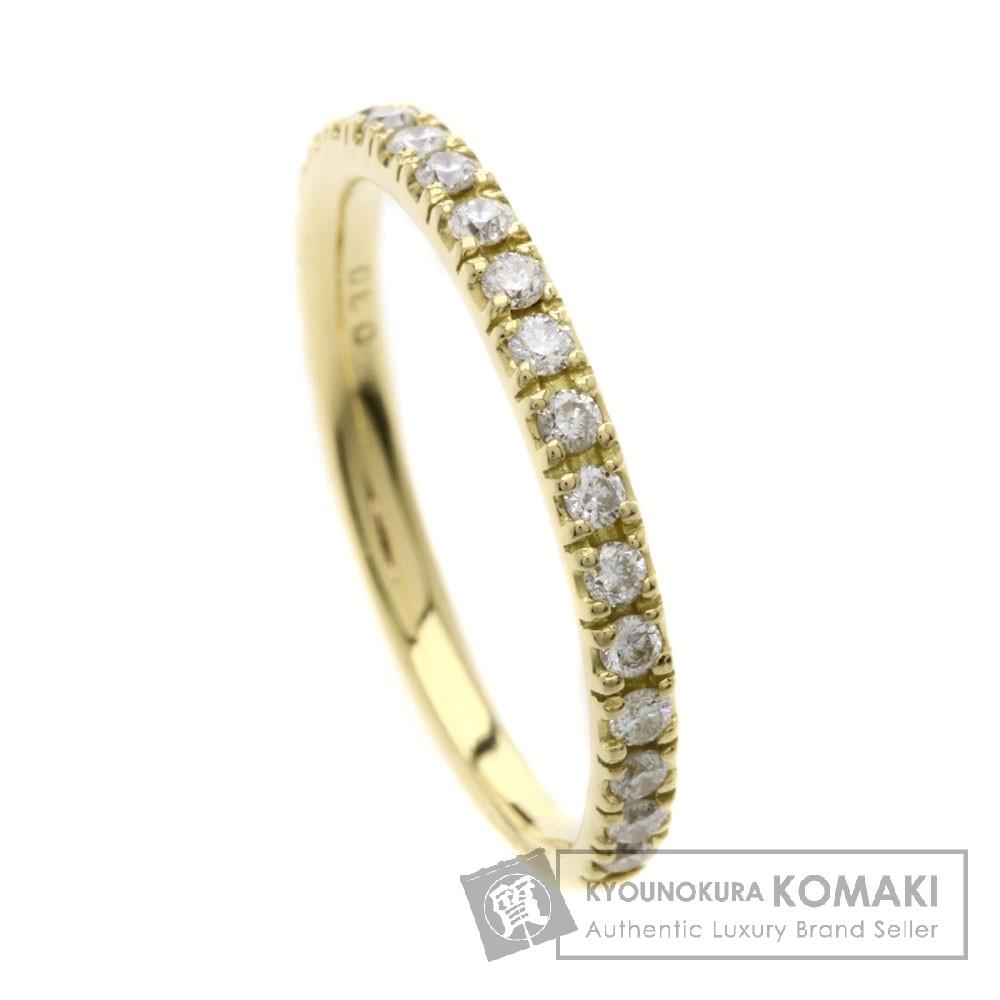0.3ct ダイヤモンド/ハーフエタニティ リング・指輪 K18イエローゴールド 1.7g レディース 【中古】