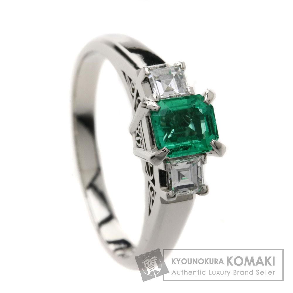 0.47ct エメラルド/ダイヤモンド リング・指輪 プラチナPT900 5.5g レディース 【中古】