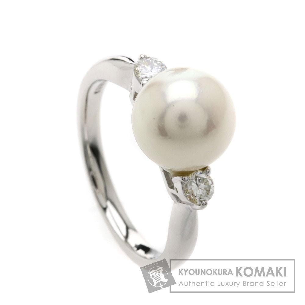 0.2ct パール/真珠/ダイヤモンド リング・指輪 プラチナPT900 5.2g レディース 【中古】