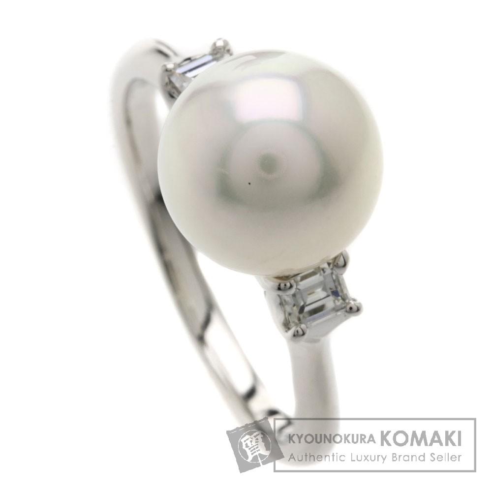 パール/真珠/ダイヤモンド リング・指輪 プラチナPT900 6.6g レディース 【中古】