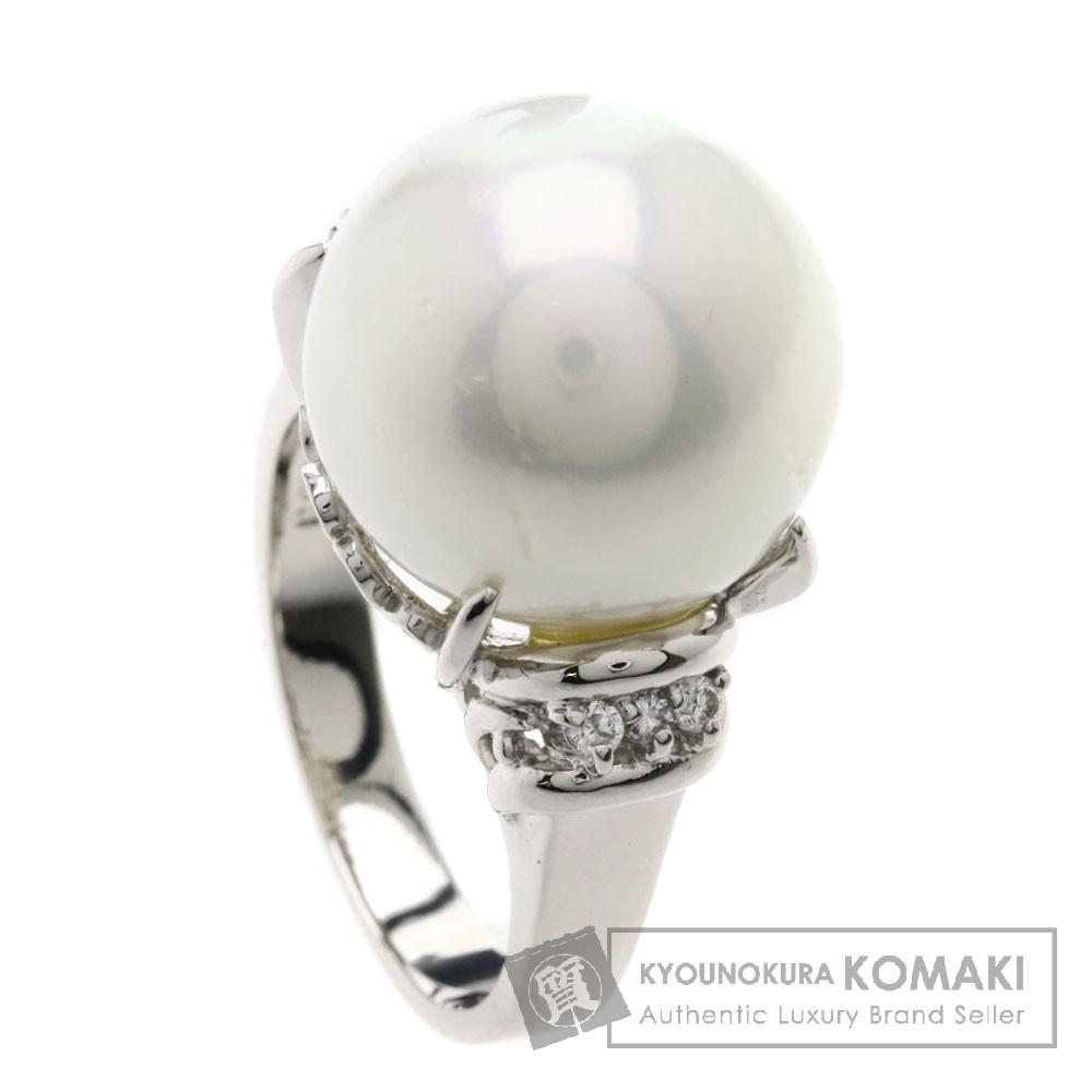 0.09ct パール/真珠/ダイヤモンド リング・指輪 プラチナPT900 13.4g レディース 【中古】