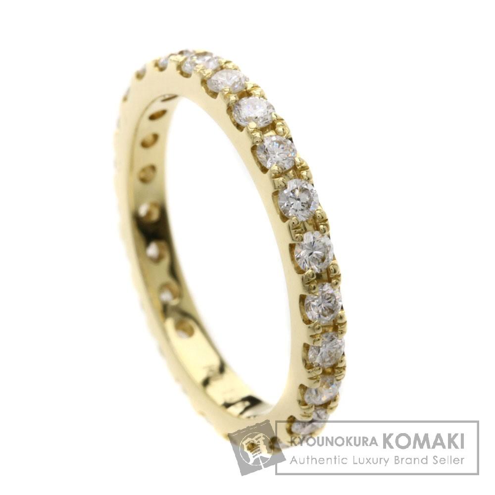 1ct ダイヤモンド/エタニティ リング・指輪 K18イエローゴールド 3.4g レディース 【中古】