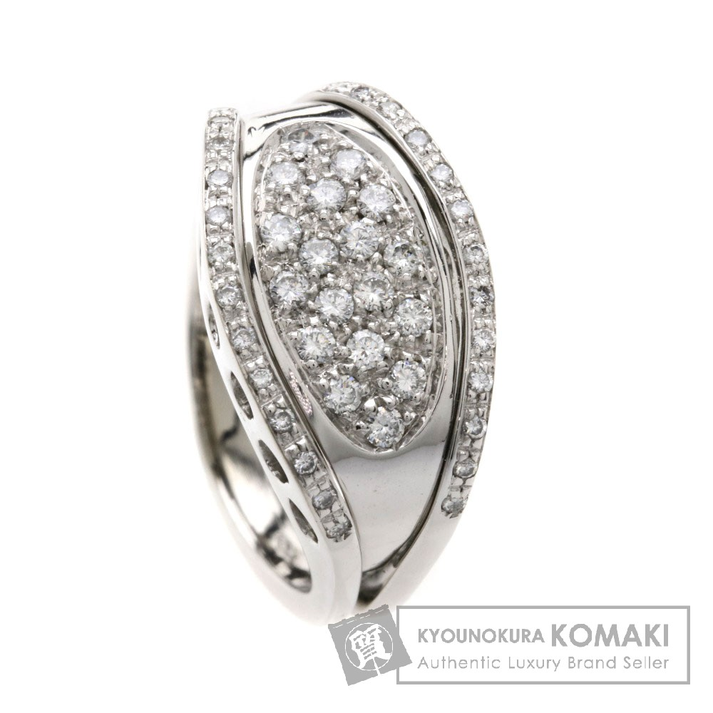 ダイヤモンド リング・指輪 K18ホワイトゴールド 9.4g レディース 【中古】