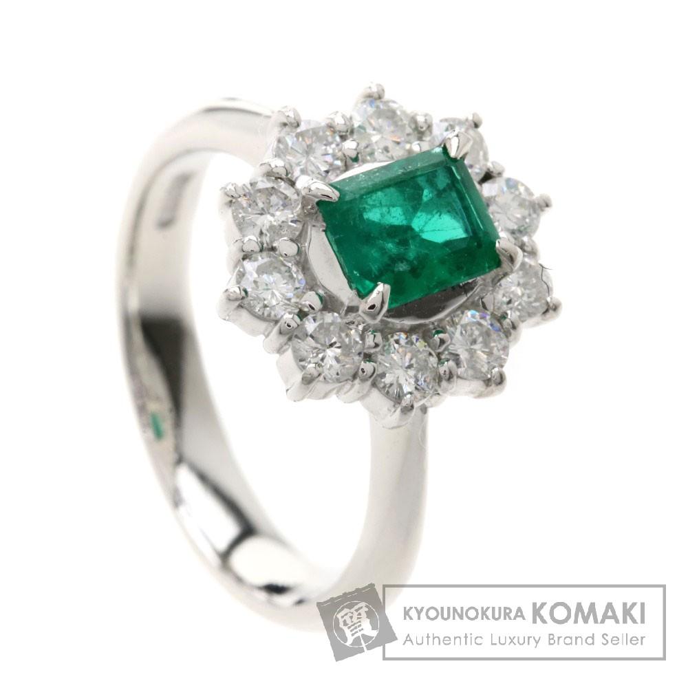 0.61ct エメラルド/ダイヤモンド リング・指輪 プラチナPT900 7.5g レディース 【中古】