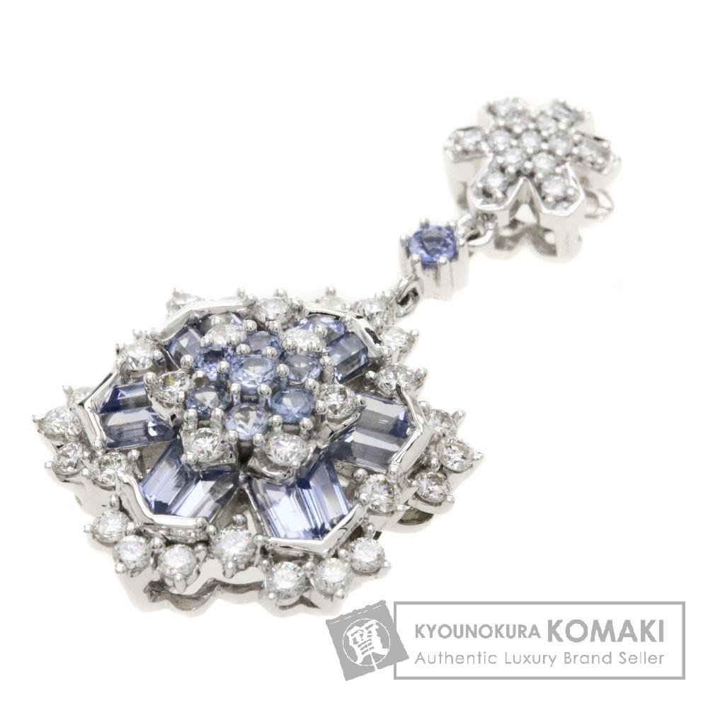 1.16ct サファイア/ダイヤモンド ペンダント K18ホワイトゴールド 5g レディース 【中古】