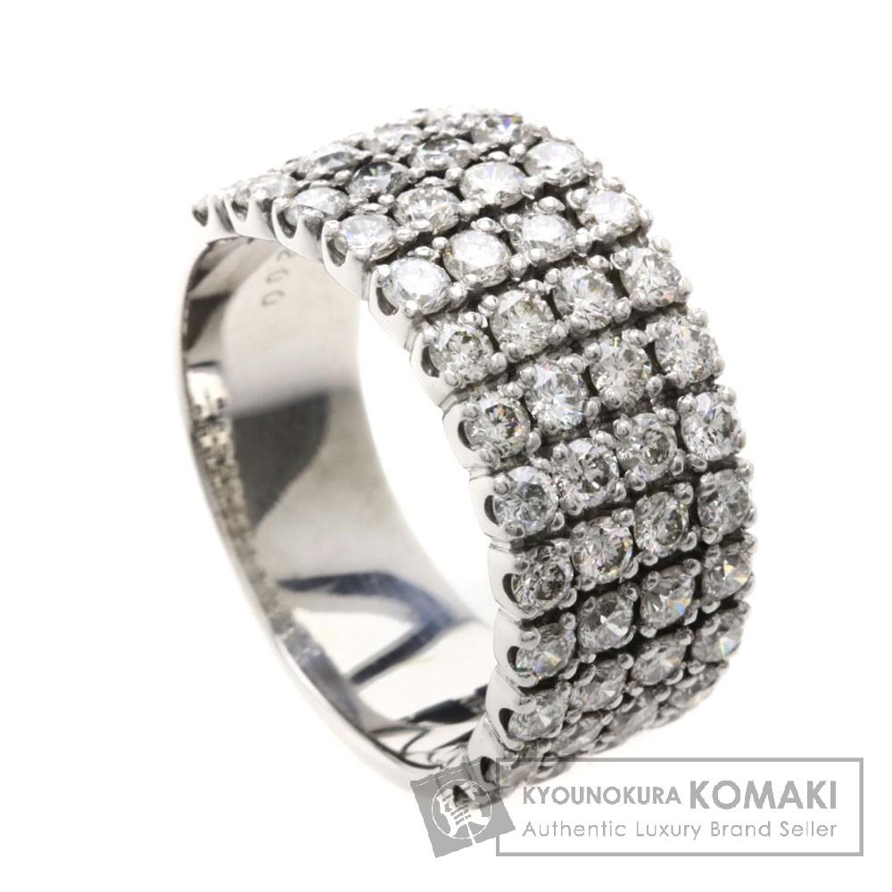2ct ダイヤモンド リング・指輪 K18ホワイトゴールド 8.1g レディース 【中古】