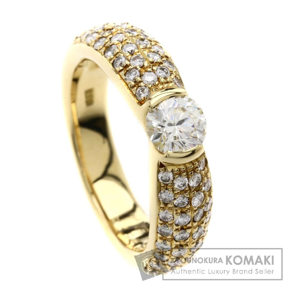 0.524ct ダイヤモンド リング・指輪 K18イエローゴールド 8g レディース 【中古】