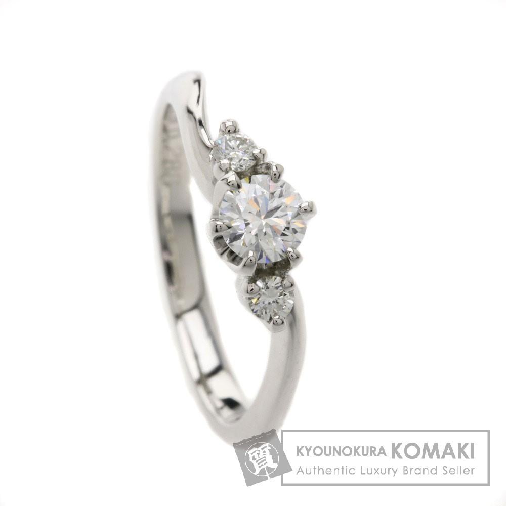 0.286ct ダイヤモンド リング・指輪 プラチナPT900 3.6g レディース 【中古】