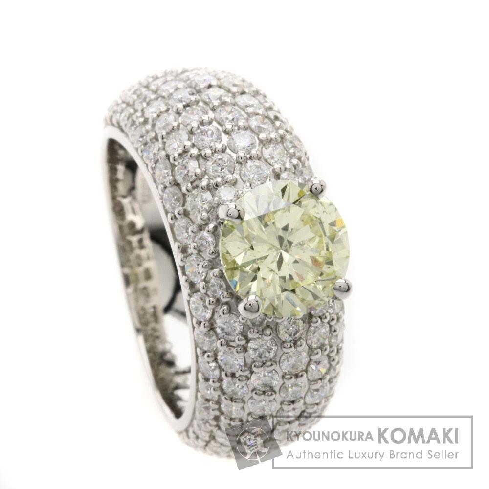2.145ct イエローダイヤモンド リング・指輪 プラチナPT900 15.4g レディース 【中古】
