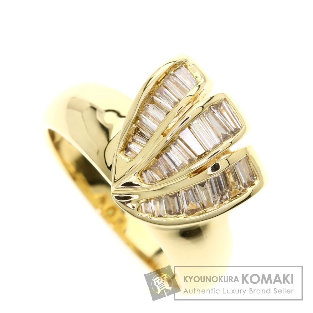 0.45ct ダイヤモンド リング・指輪 K18イエローゴールド 6.8g レディース 【中古】